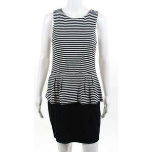 VGC Tart Black White Peplum Dress Size Small